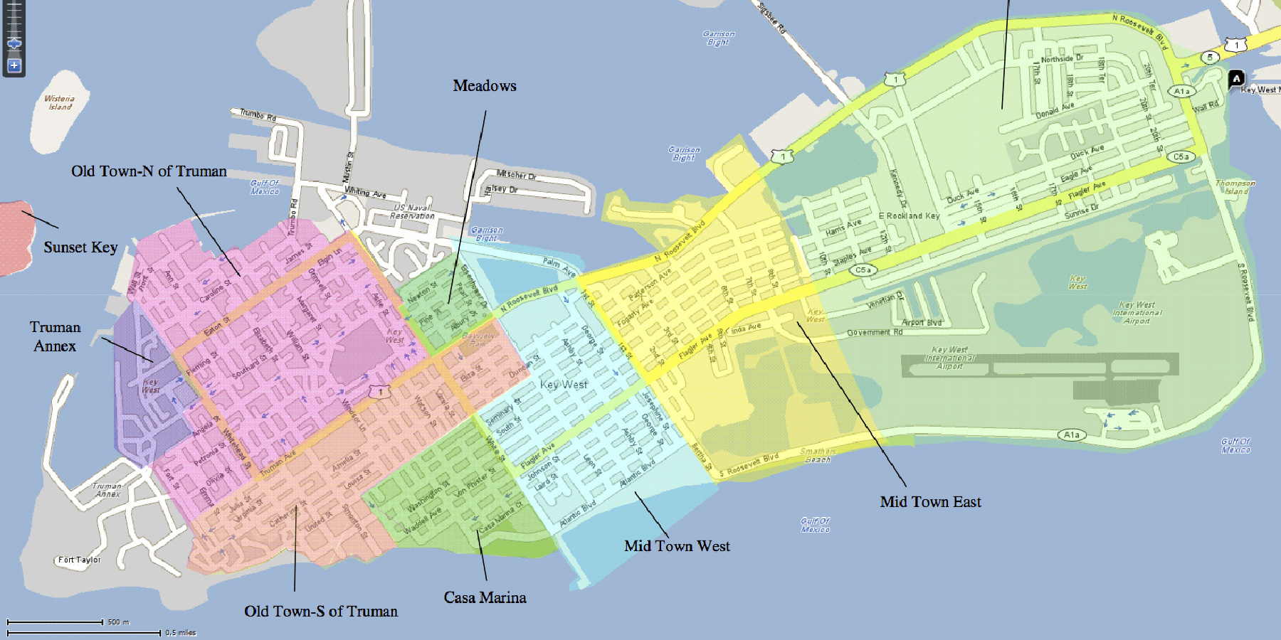 The Neighborhoods Of Key West | Historic Key West Vacation Rentals on michigan victorian house plans, key west patio home plans, key west florida home plans, san francisco victorian house plans, key west bungalow plans,