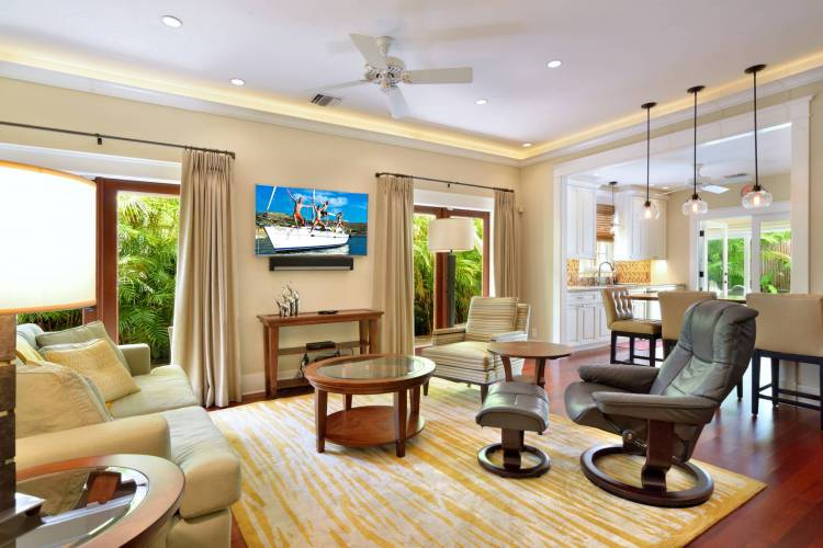 open floor plan at ashe house monthly vacation rental