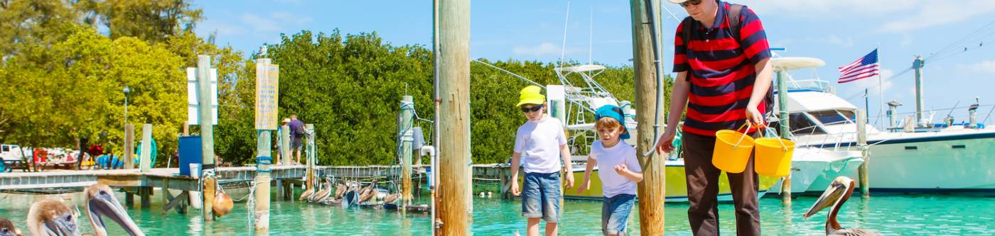 Kids in Key West fishing